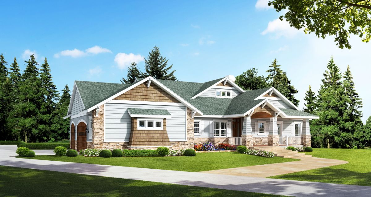 Eclectic Craftsman Style Home