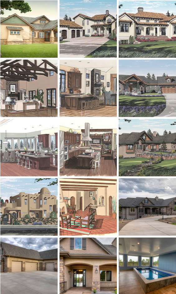 Drafting firm developing working drawings for new custom residential homes, additions, and remodels.